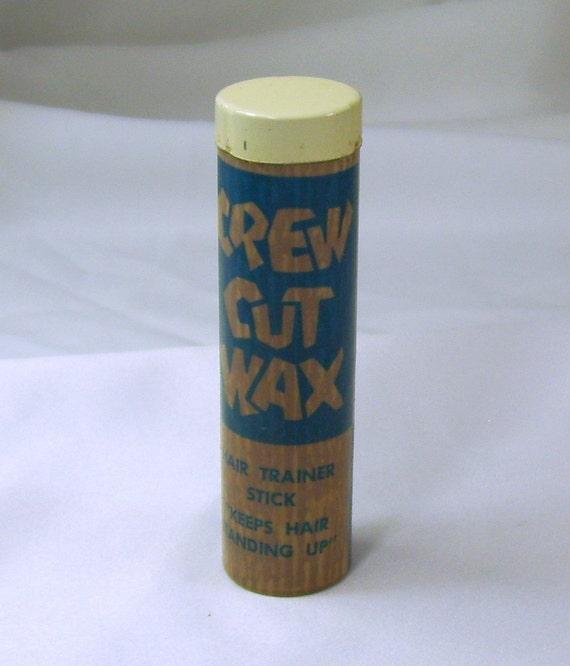 Vintage 1950s Crew Cut Wax Hair Trainer Stick Keeps Hair