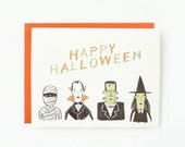Halloween Creatures Card 1pc