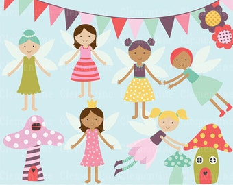 Fairy clip art images,  faeries clipart, fairy vector, royalty free clip art- Instant Download