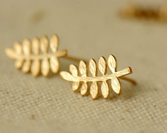 10pcs( 5 pairs)  15X10mm Gold Color Plated Earrings Posts  with Suspension