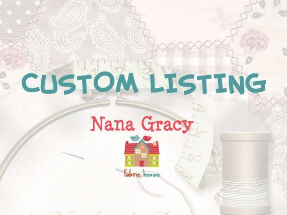 Custom Listing for Evelyn Beh BB