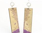 Natures Window - Laser Cut Wood Earrings