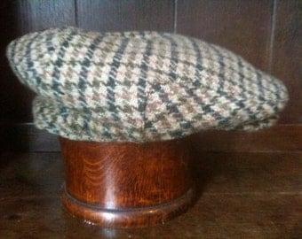Vintage English Harris Tweed Cap Hat Size 61 circa 1960-70's / English Shop