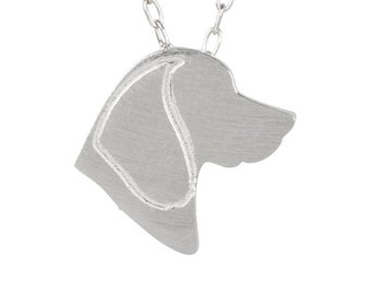 Beagle necklace, Beagle charm, Beagle jewelry, Beagle silhouette - Sterling silver dog charm, dog charm pet memorial gift