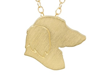 Dachshund 40% OFF Discontinued Metal: Gold-Plated Silver, Dachshund charm necklace, Dachshund jewelry, pet memorial, dog jewelry, gift