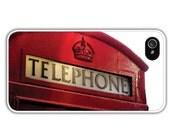 British Red Telephone Box, Phone Booth/Cell Phone Case/iPhone/Samsung Galaxy, Minimalist/Modern/Pop Art,/Symbol Of Britain,FREE SHIPPING USA