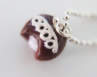 Food Jewelry - Cupcake Necklace - Chocolate - Food Jewelry - Cupcake Jewelry