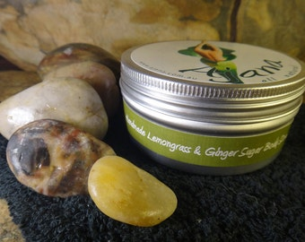 Lemongrass & Ginger Handmade Fresh Body Scrub 200gm Tin - Flat Rate Shipping Now Available!