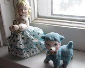 Vintage Girl with Lamb Figurine Mary Had a Little Lamb or Little Bo Peep