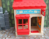 Post Office with Ringing Phone, Ringing Cash Register and Ringing  Door Bell. It Uses 2 Small Lithium Cells for Power. Over 7 Inches Tall.