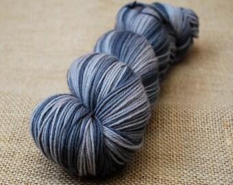 Hand Dyed Sock Yarn Superwash Merino Cashmere Nylon 80/10/10 436 yards Naturally Dyed 'Smokey'
