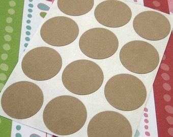 108 Kraft Round Sticker Seals 3/4 inch