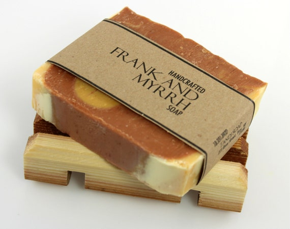 Frankincense and Myrrh Soap, Vegan Friendly, Handmade Cold Process Soap, All Natural