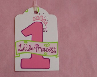 Baby Girl's 1st Birthday Gift Tag ...Set of 3