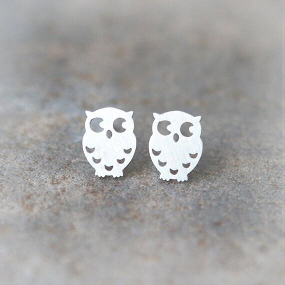 Cute Owl earrings in silver