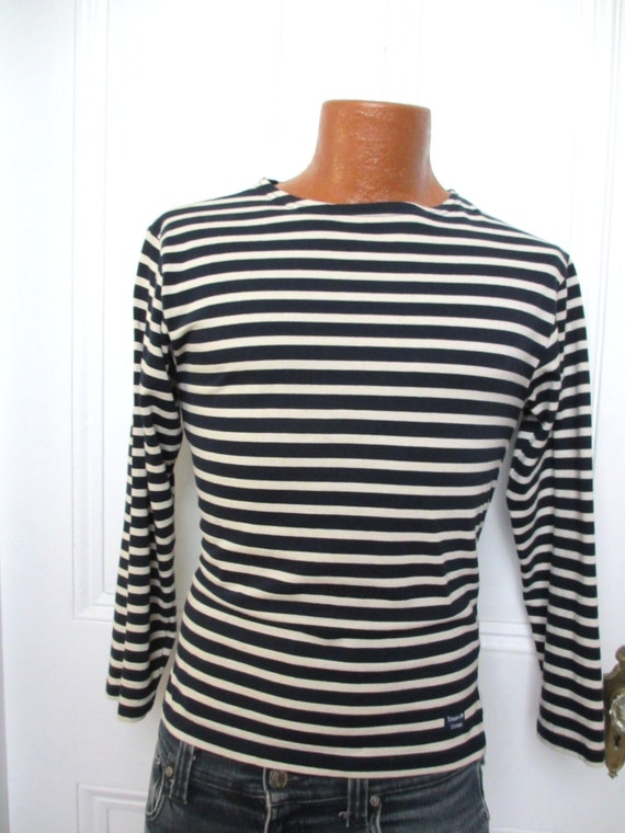 vintage men 39 s french sailor shirt striped shirt small xs