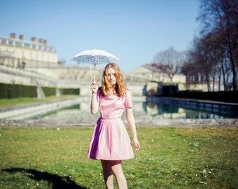 Dusky Pink Pleated dress