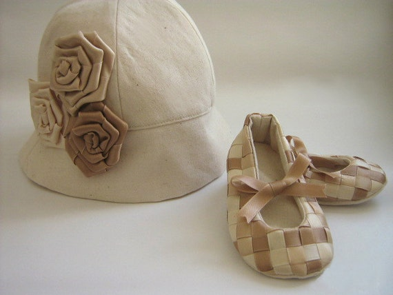 SEWNG PATTERNS Hat and booties Easy Sew Baby Girl Patterns Tutorial PDF.