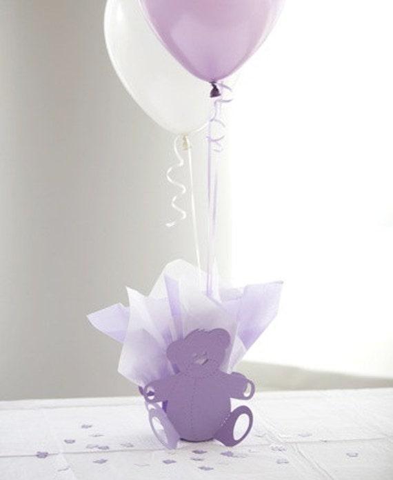 Lavender Birthday Centerpieces : Items similar to purple teddy bear st birthday