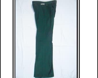Vintage NOS Green Corduroy Flares