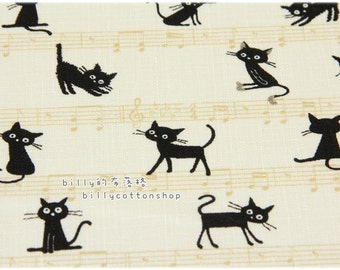 K681_55 - cats fabrics - ( 2 color to choose) in Half Yard