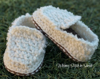 Little Baby Loafers ~ Baby Boy ~ Casual Loafers ~ 0-6 Months or 6-12 Months Available