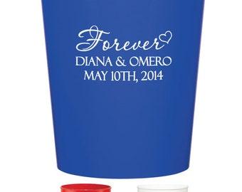 50 Custom Wedding Favor Stadium Cups Personalized Wedding Favors