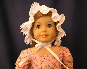 1800's White Cotton Dust Bonnet for AG  Doll