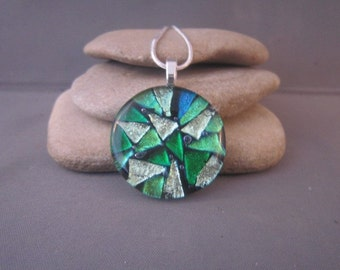 Shades of Green Dichroic Pendant