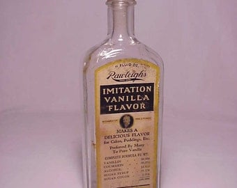 c1930s Rawleigh's Imitation Vanilla Flavor manufactured by The W. T. Rawleigh Company Freeport, Illinois, Screw Top Extract Bottle