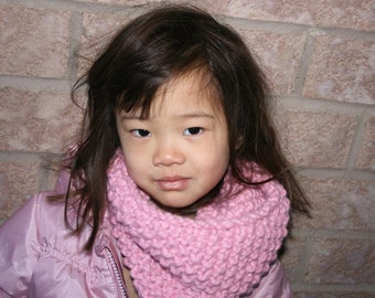 Knit Children's Cowl Loop Scarf in Blossom / THE KIDDIE COWL