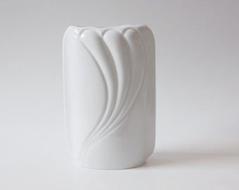 Vintage German White Porcelain  Vase - Thomas 70s