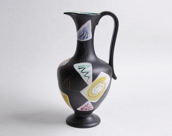 "Mid-Century XL Rare Floor Vase  ""Morocco"" - 50s Ruscha"