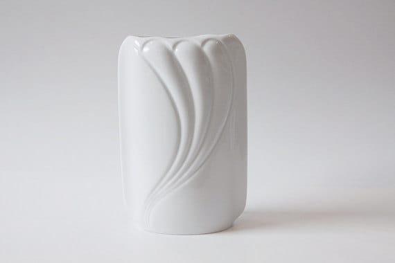 Vintage German White Porcelain  Vase - Thomas 70s