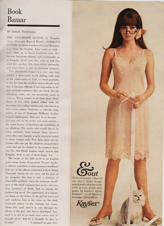 1960s Lingerie Ad 2 p. Peach Pink Sexy Redhead In by ...