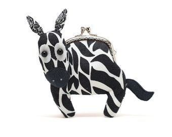 Little baby zebra clutch purse