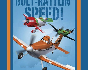 Disney Planes Bolt Rattling Speed Quilt or Wall Hanging Fabric Panel by Springs Creative - LAST ONE