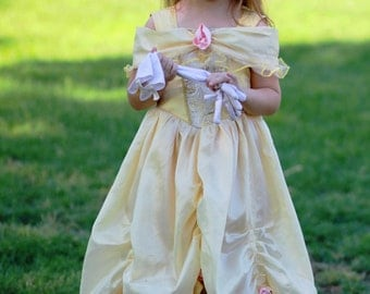 Deluxe Belle Yellow Ballgown Disney Princess Dress Size 3T Beauty and the Beast costume