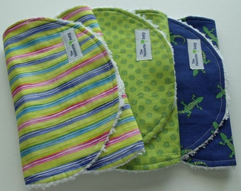 Burp Cloths - Lizard Collection - set of 3