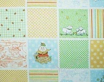 Mary Engelbreit Fabric Nursery Rhyme Patchwork Blocks - Mother Goose