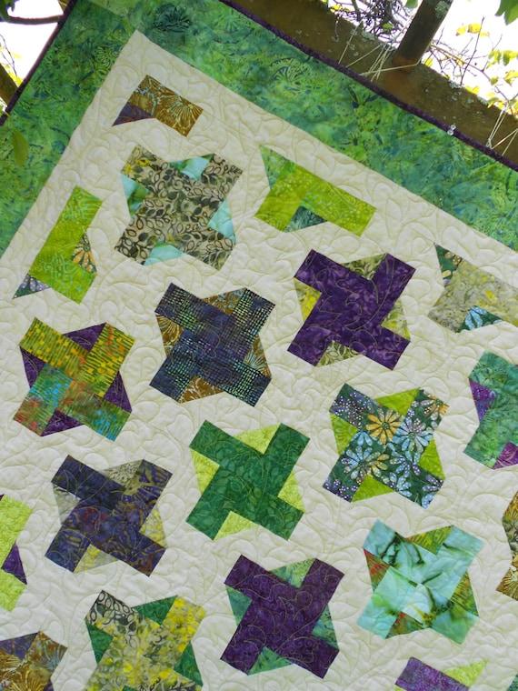 Intermediate Quilting Patterns : Quilt Patterns - Goddess Greens - Quilt Pattern Crib to King sizes - Intermediate PDF INSTANT ...