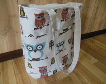 Hooty Owls Medium Beach Bag/Gym tote/Pool tote/Teacher's Bag
