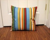 Colorful Striped Pillow Cover