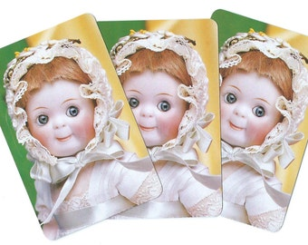 Vintage Playing Cards-(3)  THERIAULT'S - Famous DOLL Auctioneers - New Cards!! Paper Epherema Collectibles Scrapbook