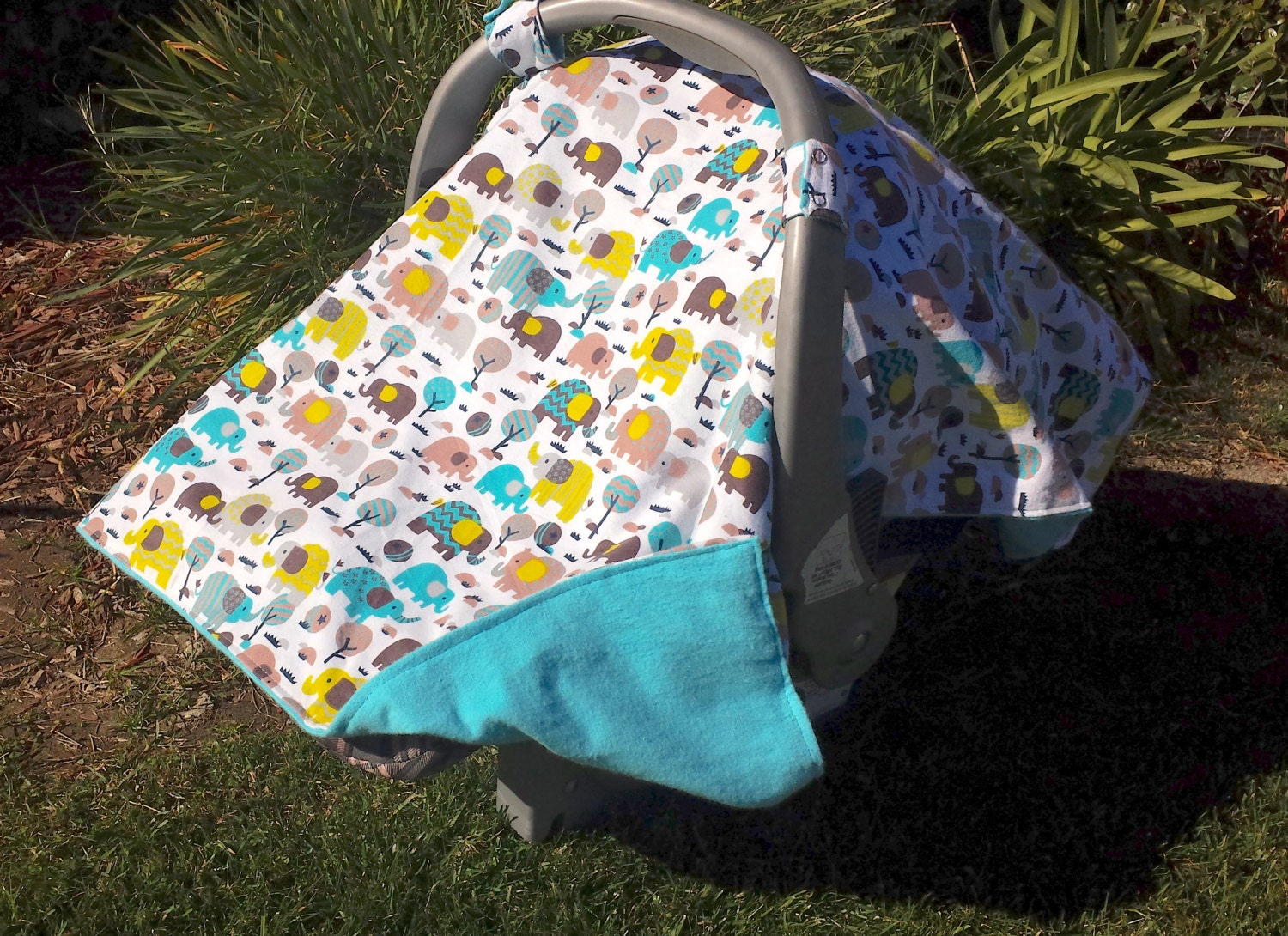 Baby Car Seat Cover Elephants