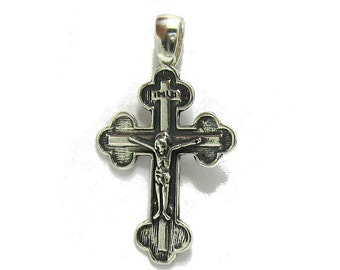 PE000902  Sterling silver pendant Jerusalem cross solid 925