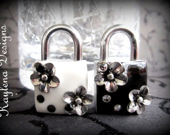 Flowers and crystals Lock,  Working Padlock, Lock and Key, Mini  Lock,Lock,