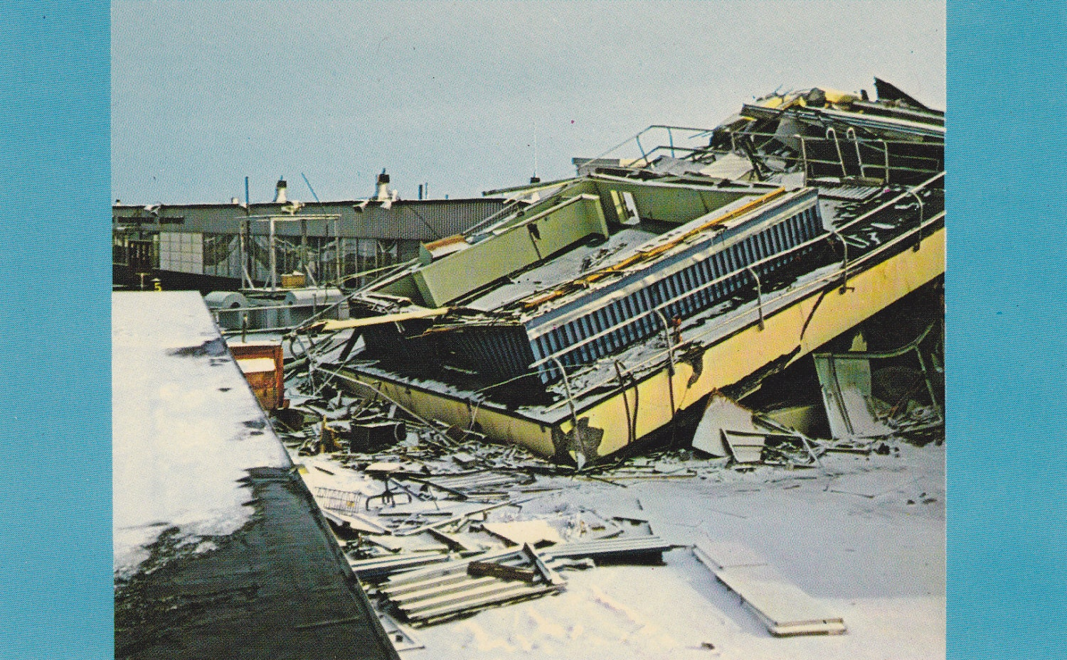 Co color art printing anchorage alaska - Great Alaskan Earthquake Of Good Friday 1964 1960s Vintage Chrome Postcard Anchorage Alaska Control Tower Ruins Plastichrome Ephemera