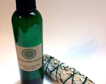 Holy Water White Sage House Clearing Spray- clear out unwanted energies