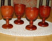 80s Throwback, Wood Goblets Set, Challis, Cup, Entertaining, Holiday, Rustic, Drink Grog, Gift